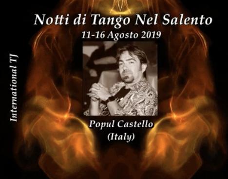 Notti di Tango nel Salento Bellissima e frequentatissima manifestazione che si ripete da anni nel Salento. Un appuntamento imperdibile. Presente come DJ